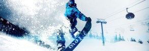 Snowboarder By Gondolas Edit